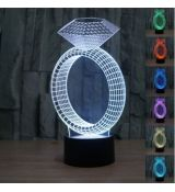 3D LED lampa Diamant